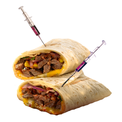 Red Hot Chili Peppered Steak Wrap